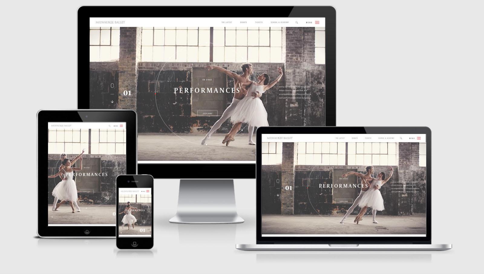 Milwaukee Ballet across 4 viewports