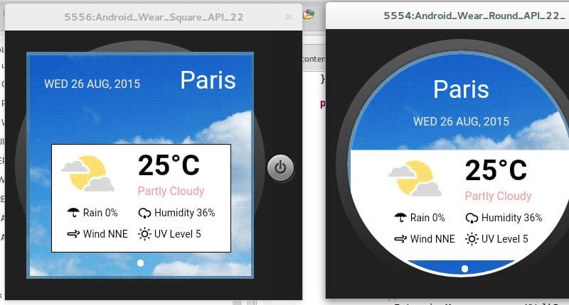 CSS Round Display Weather App