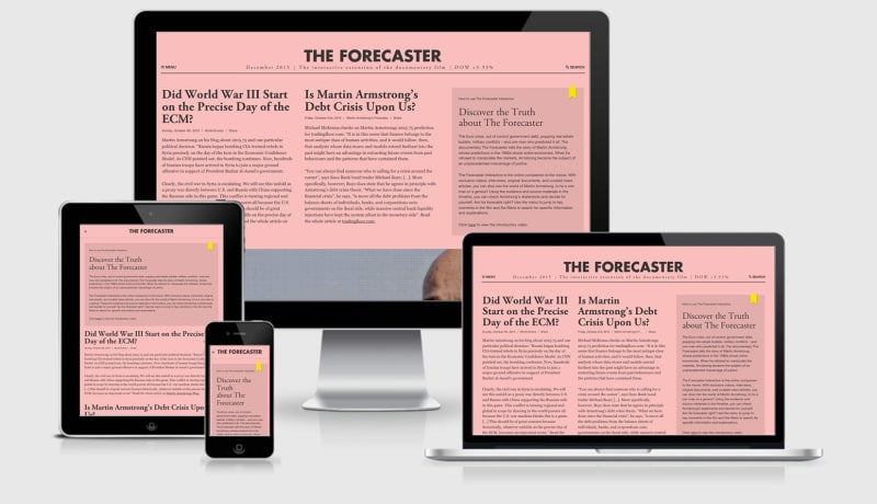 The Forecaster Interactive seen across four viewports