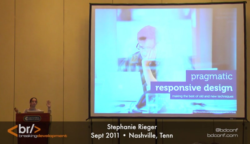 Pragmatic Responsive Design with Stephanie Rieger