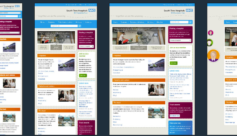 South Tee Hospital Responsive Design