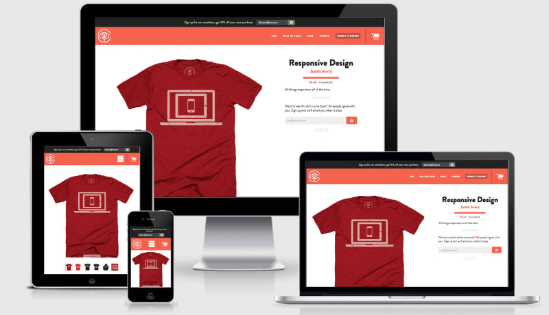 Cotton Bureau Responsive design across 4 viewports