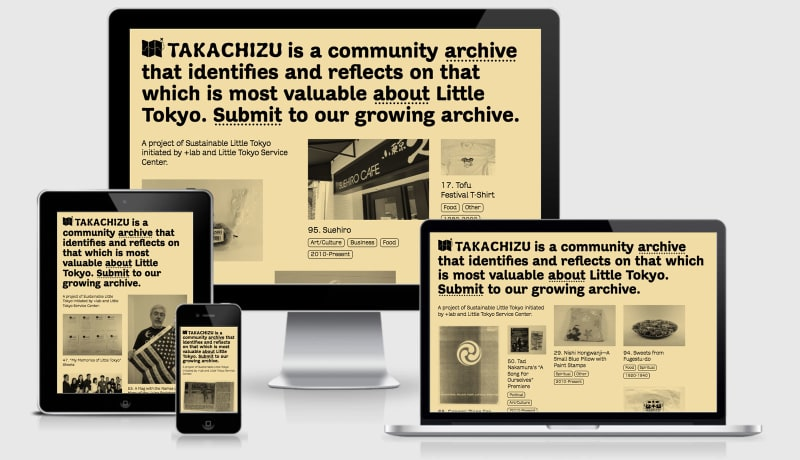 Takachizu across four responsive viewports