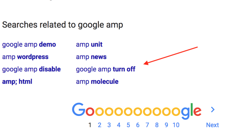 Google Amp Turn Off