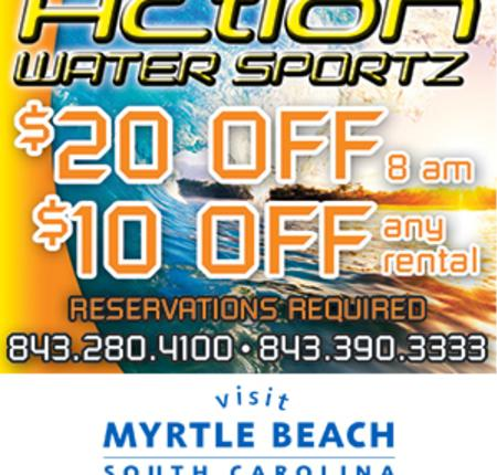 Action Water Sportz - $20 Off 8 a.m. - $10 Off any rental