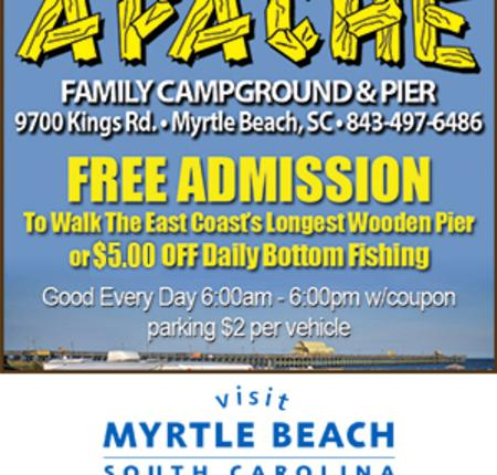 Apache Family Campground & Pier - Free Admission or $5 off Daily Bottom Fishing