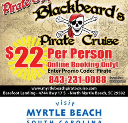 Blackbeard's Pirate Cruise - $22 Per Person Online Booking Only!