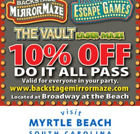 Backstage Mirror Maze - 10% Off Do It All Pass