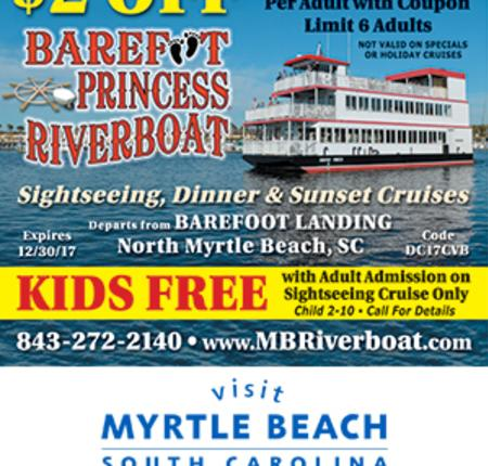 Barefoot Princess Riverboat - $2 Off Dinner Cruise
