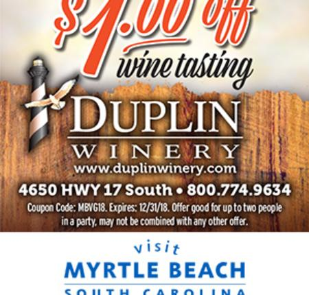 Duplin Winery - $1 Off Wine Tasting