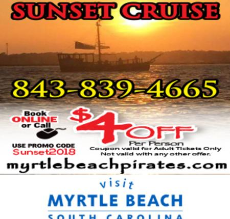 $4 Off Per Person Pirate Ship Sunset Cruise