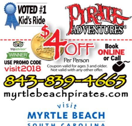 $4 Off Per Person Pirate Adventures Children's Treasure Hunt