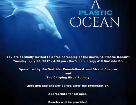 "Free screening of the movie ""A Plastic Ocean"""