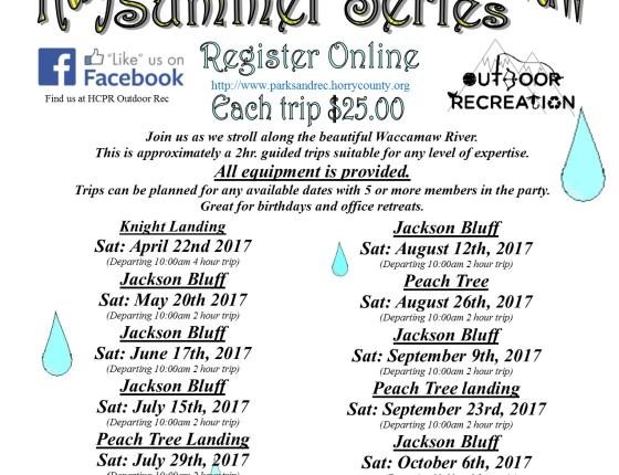 Kayak on the Waccamaw - Summer Series