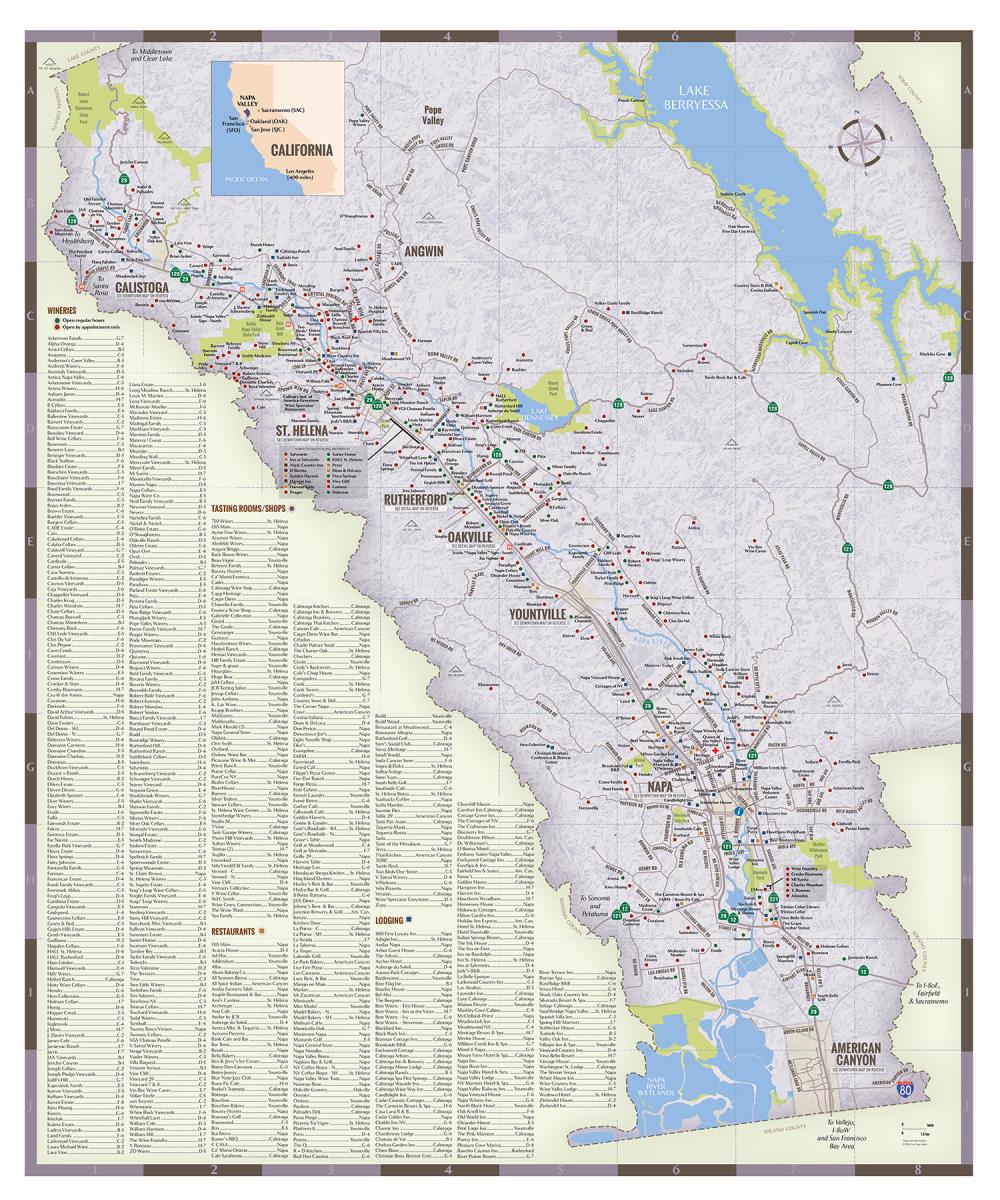 Napa Valley Regional Map Visit Napa Valley