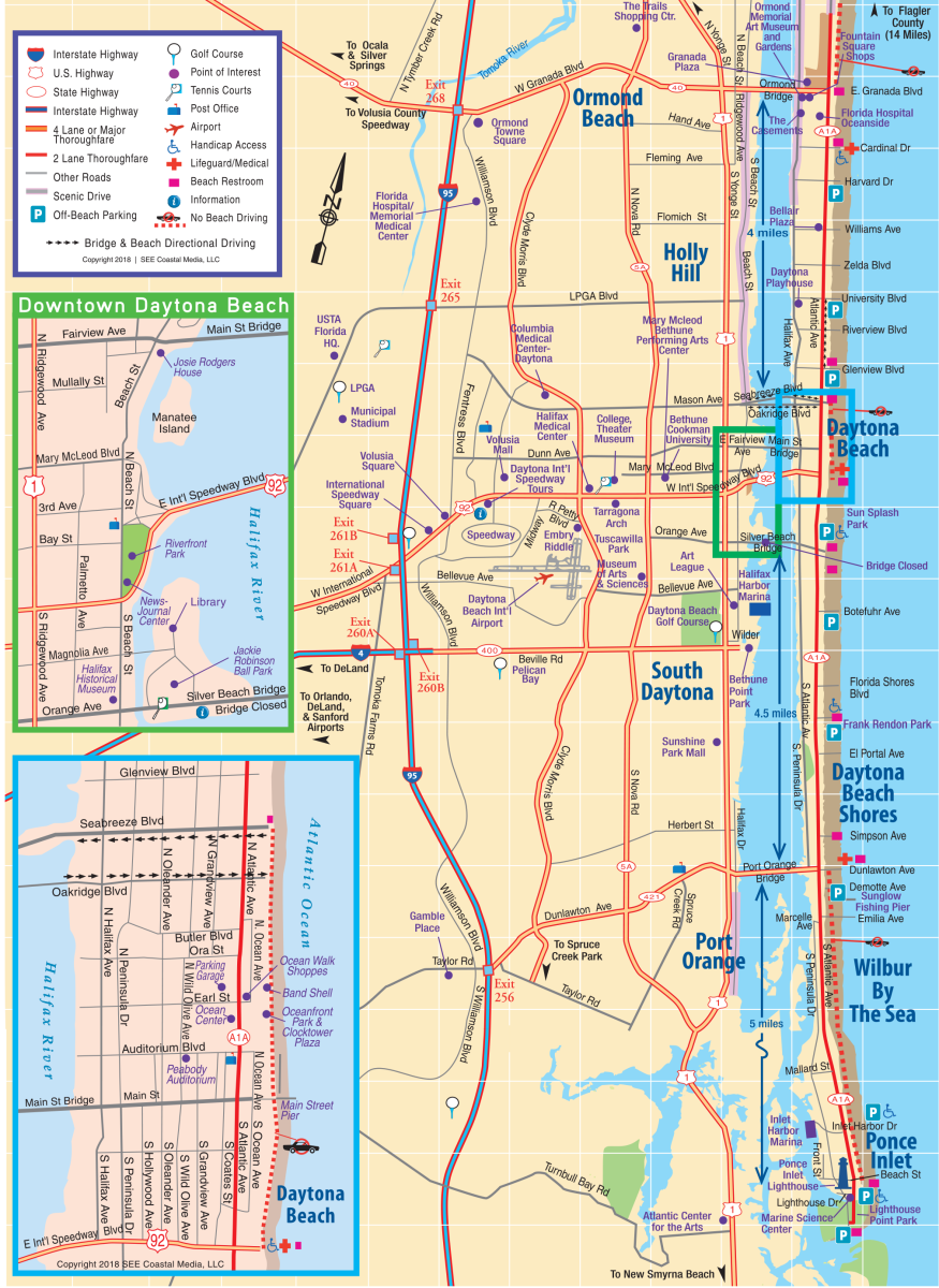 Daytona Beach Public Transportation Map