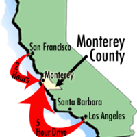 Maps of Monterey County Travel Information and Attractions
