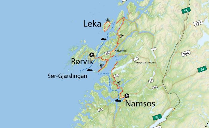 kart over leka Namsos map kart over leka