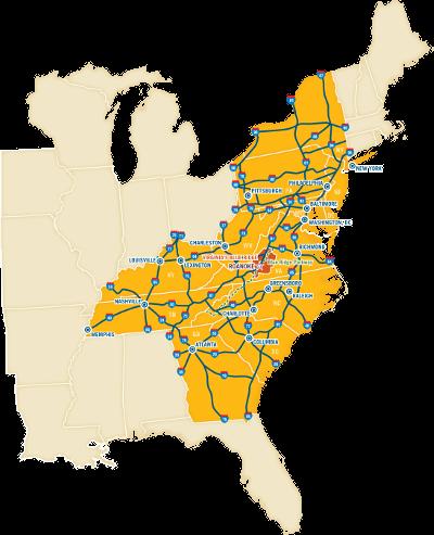 Maps of Virginias Blue Ridge Roanoke Maps