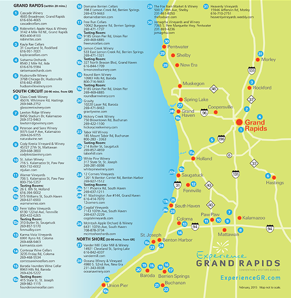 Grand Rapids wine Tours Wineries and Vineyards