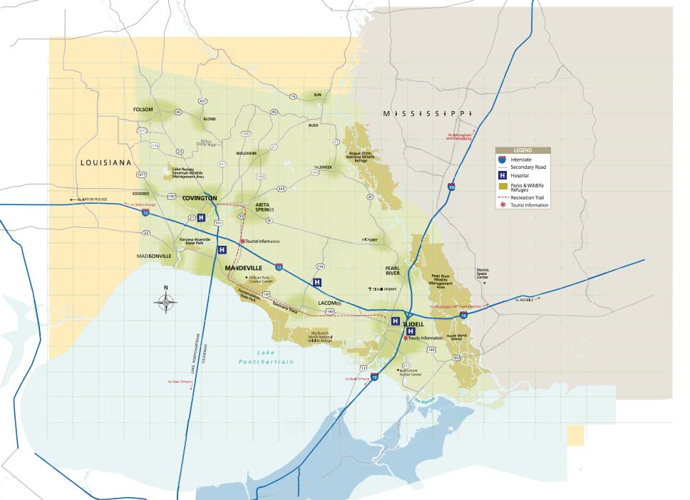 Maps of St Tammany Parish Covington Slidell