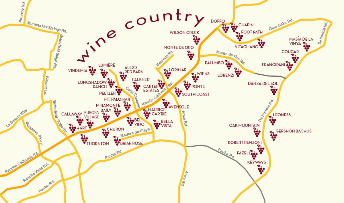Temecula Winery Map and Directions Temecula CA