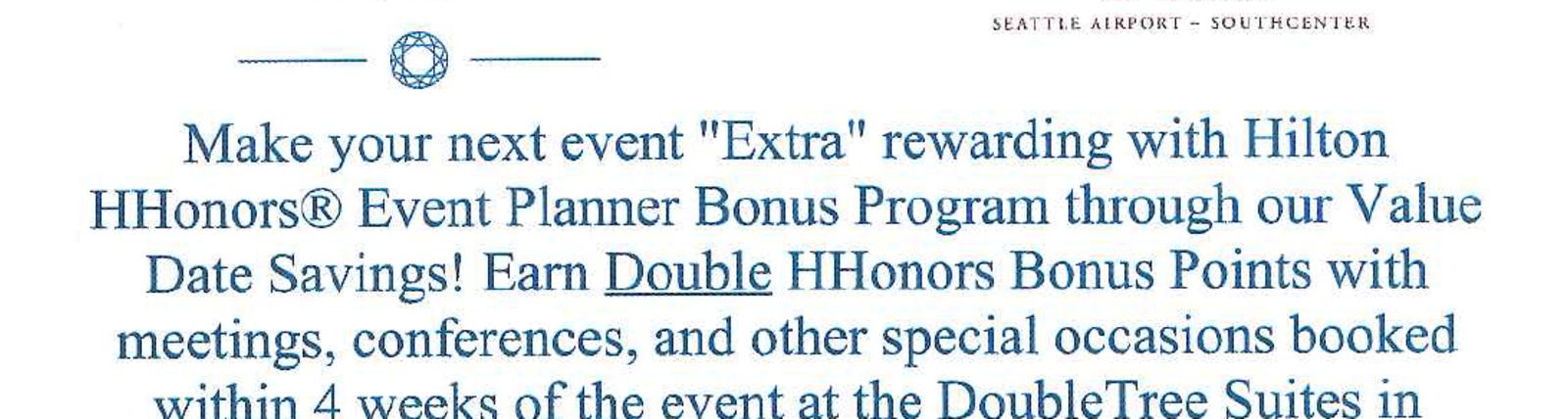 Double Hilton Honors Bonus Points
