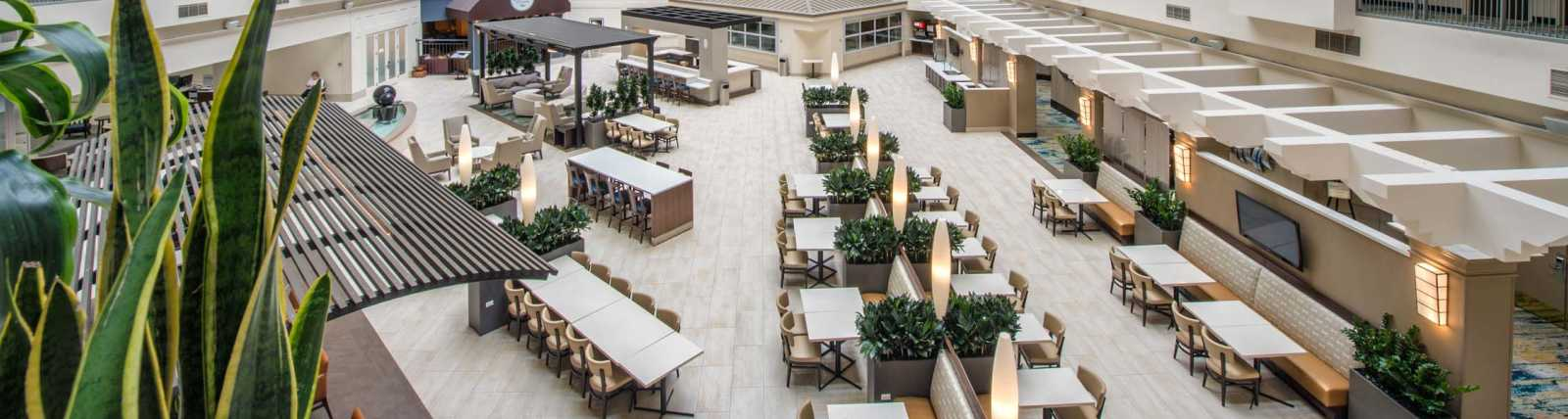 Newly transformed atrium