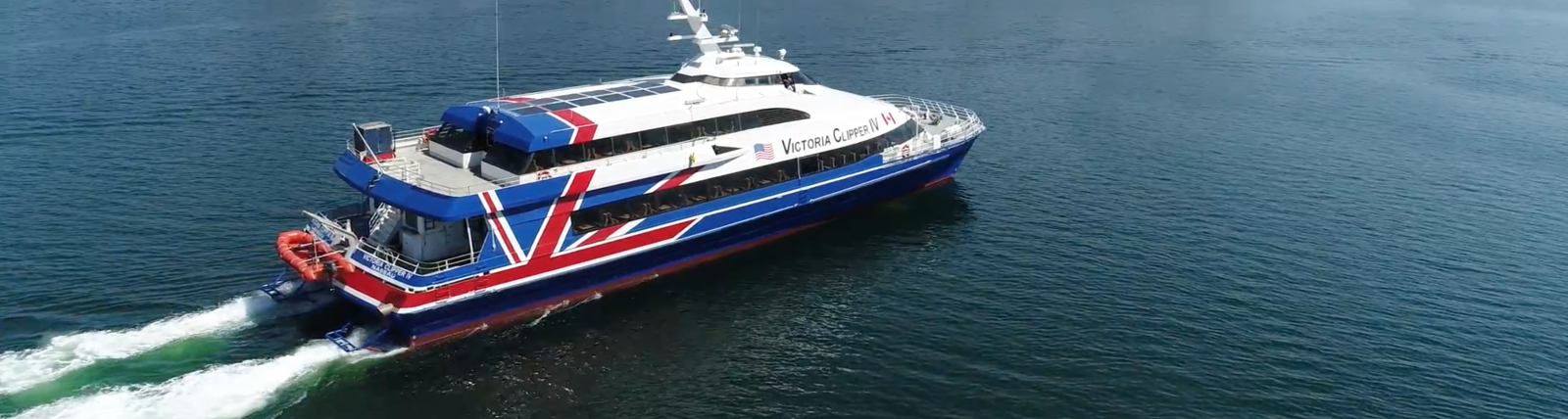 The Victoria Clipper IV in Victoria's Inner Harbour