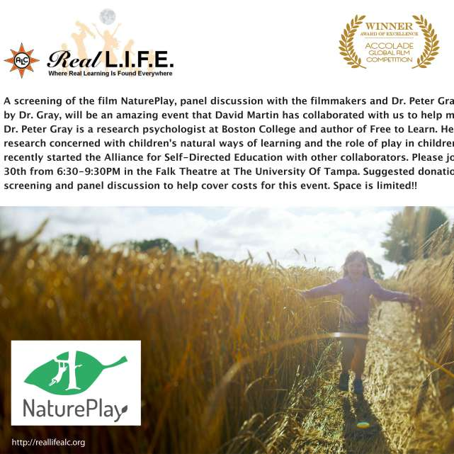 Real Life ALC Presents NaturePlay and Peter Gray