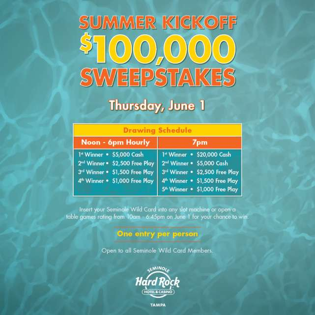 $100,000 Summer Kickoff Sweepstakes