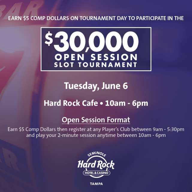 $30,000 Open Session Slot Tournament