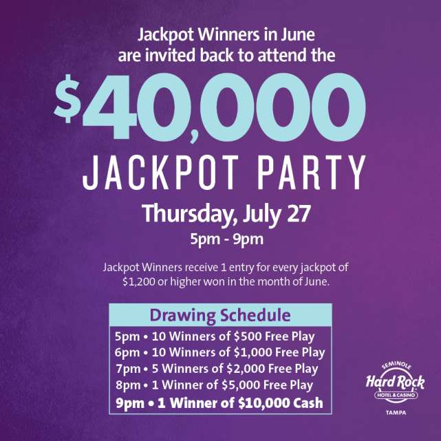 $40,000 Jackpot Party