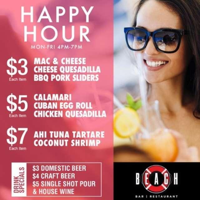 Happy Hour at Beach Bar