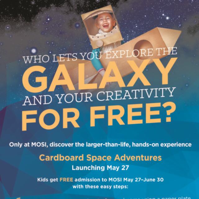 Cardboard Space Adventures - Kids get in free