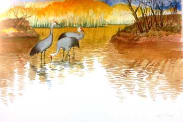 A Celebration of Cranes: Artwork by Caryl McHarney