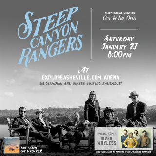 """Steep Canyon Rangers """"Out In The Open"""" Album Release Show with Special Guests River Whyless"""
