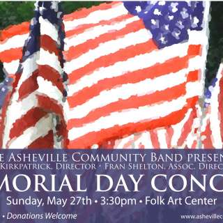 Free Memorial Day Concert presented by the Asheville Community Band