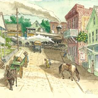 "Art Show and Sale - ""Step Back In Time: A Walking Tour of Black Mountain"" Original Watercolors"
