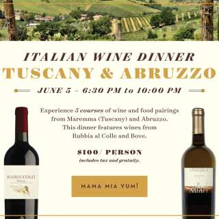 Italian Wine Dinner - Tuscany & Abruzzo regions