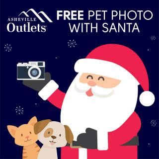 Free Santa Pet Photo at Asheville Outlets