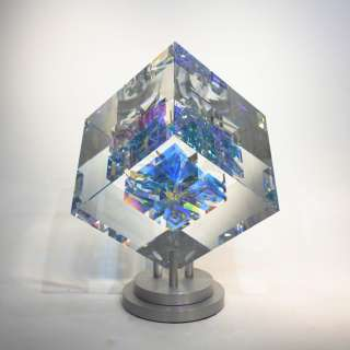 Linear Angularity - Optical Crystal Sculpture by Toland Sand