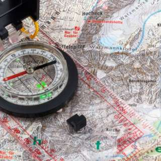 Hiking with a Map + Compass