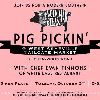 Pig Pickin' at the West Asheville Tailgate Market