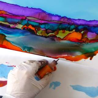 Glowing Colors with Alcohol Ink with Lorelle Bacon, May 12