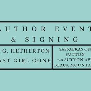 Meet & Greet Author Event | JG Hetherton