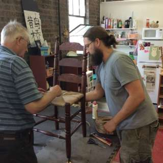 Chair Weaving with Rush