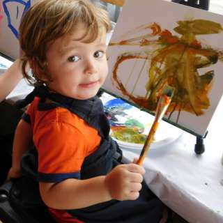 Kids Eat and Paint for Free
