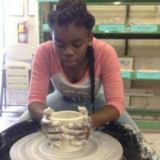 Young Potter's Wheel Workshop Ages 8-12 with Halima Flynt