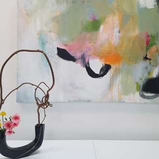 Exhibit: Paintings and Ikebana by Jamie Rowe-Rischitelli